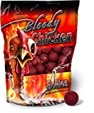 Quantum Radical Naturköder 20mm/1kg Boilie Bloody Chicken 20mm 1 KG, Rot/braun