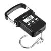 Etekcity Kofferwaage Gepäckwaage Digitale Handwaage mit Tragetasche, 50kg Kapazität,Beleuchtetes Display, Auto-Hold Tara-Funktion und Abschaltautomatik, Schwarz