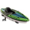 Intex Schlauchboot Aufblasbares Kajak Boot Challenger K1 Phthalates Free Inkl. 84 Paddel und Luftpumpe, 274 X 76 X 33 cm, 68305NP -