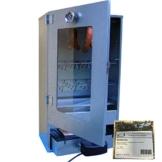 VF Elektrischer Räucherofen aus Edelstahl mit Sichtscheibe inkl. Heizung und Thermometer Räucherschrank + VF Wildwacholder