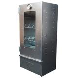 XXL Räucher-Ofen 80 x 39 x 27,5 cm: Räucher-Schrank aus verzinktem Stahl-Blech mit Sichtscheibe, Thermometer & Zubehör -